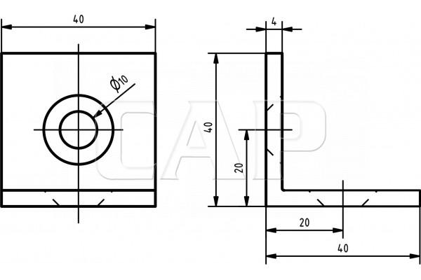 shop winkel 8 40 schwarz befestigungselemente 8. Black Bedroom Furniture Sets. Home Design Ideas
