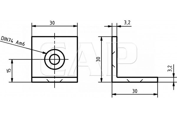 shop winkel 6 30 schwarz befestigungselemente 6. Black Bedroom Furniture Sets. Home Design Ideas