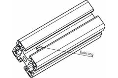Bearbeitungskosten: <br /> Durchgangsbohrung ø7,5 mm per Stk.