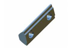 Nutenstein für Verbindungsplatte M6 40x40x10